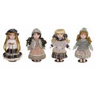 12 Boneca De Porcelana Importada Camponesa Bebê 30cm