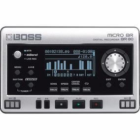 Gravador Digital Boss Micro Br Portátil Br-80 Com Efeitos