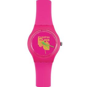 Reloj En Nuestras Manos Rosa/amarillo
