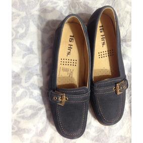 Zapatos Azul Oscuro Bajos 16 Horas (3 Posturas Maximo)
