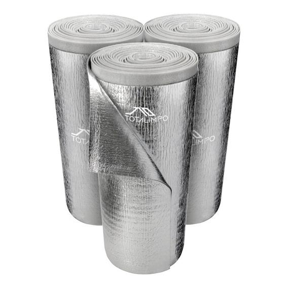 2 Rollos Espuma C/ Aluminio Doble 10mm 1x20mts Térmico