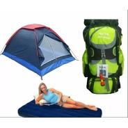Combo Carpa Camping 4 Per + Colchon+ Bomba +morral Env Inmed