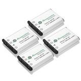 4 X Batería Np45a Np-45 Para Finepix Xp10 De Fujifilm J20 Xp