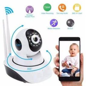 Câmera De Vigilância Wifi Duas Antenas Ip Sem Fio 720 Hd