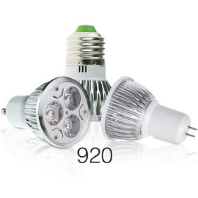Foco Dicroico 3 Leds Base E27 Gu10 Y Mr 3,6w 50000hrs D Vida