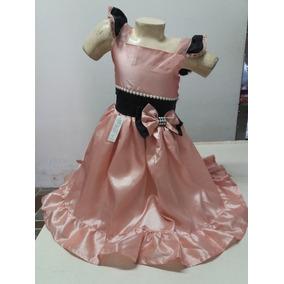 Vestido Em Tafetá No Tamanho De 4 Anos! Modelo 325