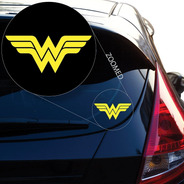 Adesivo Para Carro Mulher Maravilha 2 Unidades
