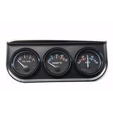 Trio Instrumento Medidor Presion Amperimetro Temperatura 12v