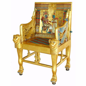 Silla Trono Tutankamon Tamano Real De Coleccion Nueva.