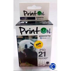 Cartucho Compatible Hp 21 Xl Negro Printon