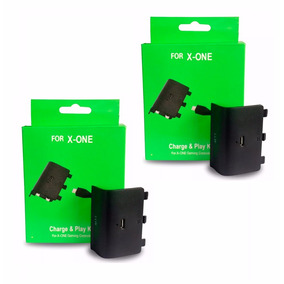 2 Bateria E Carregador Xbox One Play Charge Pronta Entrega