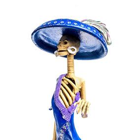 Mercedes Catrina Mexicana De Barro 100% Hecha A Mano¡¡¡