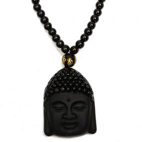 Collar Rosario Cabeza De Buda Obsidiana Vintage