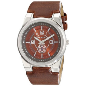 Unlisted Watches Mens Ul1131 City Streets Round Brown Dial B
