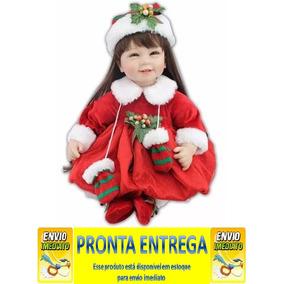 Boneca Bebê Reborn Silicone Natal Natalino Pronta Entrega