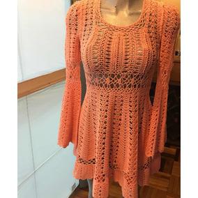 Vestido Tejido Crochet Septiembre Mes De Oferta De $2,390 A