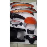 Kit Carenado Plasticos Zanella Zb G1 Original Oferta Naranja