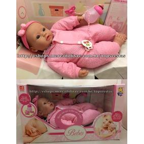 Boneca Bebê Recém Nascida Laço Estilo Reborn - Divertoys