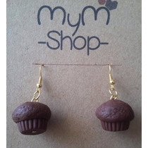 Cupcakes Aretes Kawaii Cute Accesorios Muffins Chocolate Dc