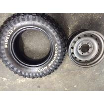 Roda Aro 16 Savana Com Pneu 255/70 R16 Pirelli Mud Novo