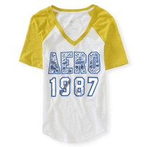 Blusa Aeropostale Estilo 6957 Amarilla- Blanca
