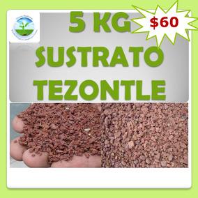 5kg Tezontle Sustrato Hidroponía Germina Decoracación Jardín