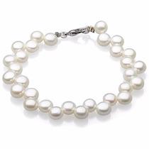 Pulsera Plata 925/perlas Cultivadas ,joya /envío Gratis