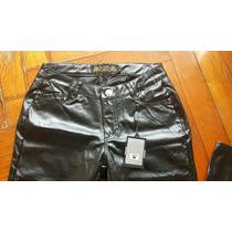 Pantalon Cuero Ecol Acharolado Chupin Importado