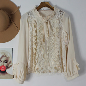 Blusa Camisa Camiseta Feminina Luxo Alfaiataria Renda 2863