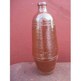 Botella Ceramica Gres Antigua Vino Porto Rcvnp