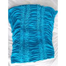 Blusa Blusinha Tomara Que Caia Azul Claro Água Estilo Sexy