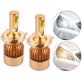 Lâmpada Super Led H4 2 Cores 6500k Ou 4500k 8000lm Headlight