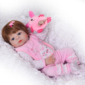 Boneca Reborn Menina Silicone Recém-nascido Frete Gratis
