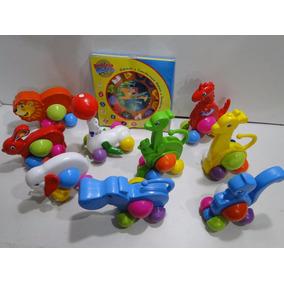 Kit 10 Brinquedos Didaticos Zoologico Leão Girafa Elefante