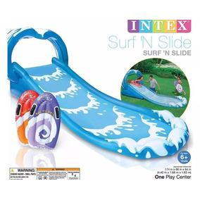 Escorregador Inflável Deslizante Intex Surf C/ Acessórios