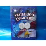 Coleção 53 Moedas Statehood Quarters Dollar Incomple Album