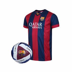 Kit Jersey Balón Futbol Fc Barcelona Réplica Niño