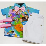 Conjunto Infantil Super Luxo Mundo Bita Azul E Preto