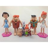 Kit 08 Bonecos Flintstones Fred Barnei Vilma Betty Pedrita