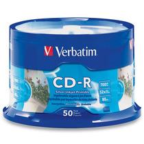 Torre 50 Discos Virgenes Imprimible Verbatim Cd Cd-r 52x C