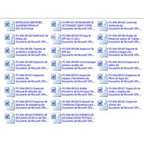Formatos De Inspecciones En Higiene Y Seguridad Industrial