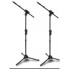 Pedestal Suporte Microfone Ibox Max Kit 2 Pç + Cachimbos