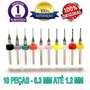 Kit 10 Mini Brocas Union Tool - Micro Retifica Dremel @