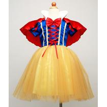 Fantasia Vestido Branca De Neve Infantil Importad 2,4,6,8,10