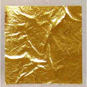 Folha De Ouro Para Artesanato 14x14 - 25 Folhas