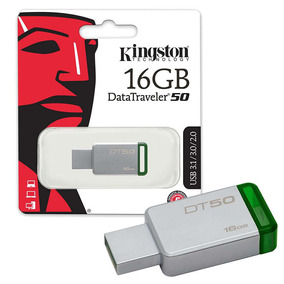 Pendrive Kingston 16gb Dt50 Usb 3.1 Tienda Oficial