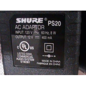 Fonte 120v Receptor Transmissor Shure Ps20 - Frete Grátis