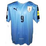 Uruguay Camiseta Oficial Puma Temporada 2017 Con Numero