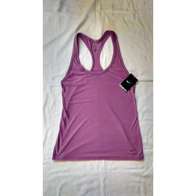 Remera Musculosa Mujer Nike Algodon Lila Talle S
