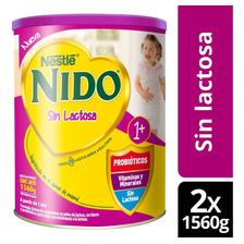 Fórmula Láctea Nido® 1+ Sin Lactosa 1560g X2 Tarros